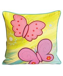 Swayam Butterfly Print Kids Cushion Cover