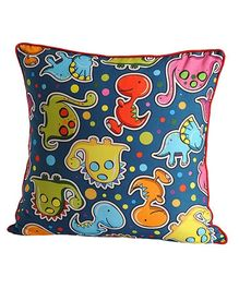 Swayam - Little Dinos Print Cushion Cover