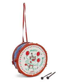 Luvley Musical Drum Toy - Red White