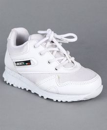Force 10 Lace Tie Up School Shoes - White
