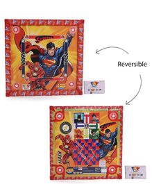 Lovely 2 in 1 Carrom Board Superman Print - Multi Colour
