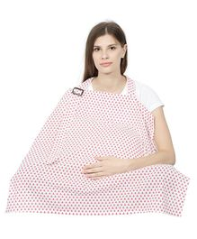 Color Fly Feeding & Nursing Cover Triangle Print - Pink