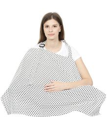 Color Fly Feeding & Nursing Cover Triangle Print - Black