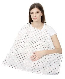 Color Fly Feeding & Nursing Cover Star Print - White Maroon