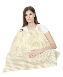 Color Fly Feeding & Nursing Cover Polka Print - Yellow