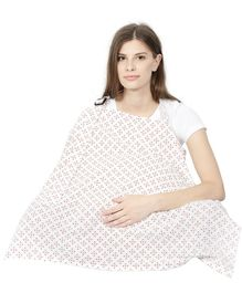 Color Fly Feeding & Nursing Cover Design Print - Maroon