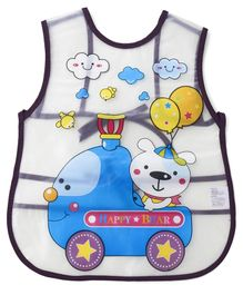 Alpaks Apron With Pocket Bear & Car Print - Multicolour