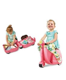 Worlds Apart Skoot Kids Manual Push Ride On Scooter Cum Travel Bag - Pink