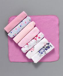 Ben Benny Wash Cloths Pack of 8 - Multi Colour