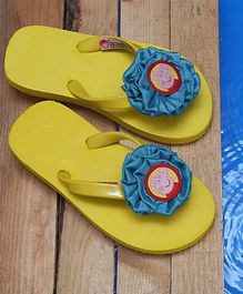 D'chica Peppa Pig Flower Flip Flops - Yellow