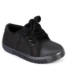 Footfun School Shoes - Black