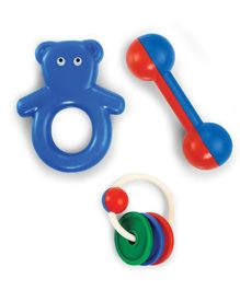 OK Play My First Gift Rattle Toy - Multicolour