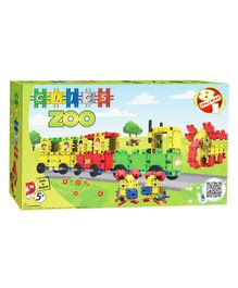 Clics Zoo Building Set Pack of 108 Pieces - Multicolour