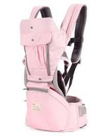 3 Way Hipseat Baby Carrier - Pink & Grey