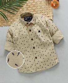 Jash Kids Full Sleeves Printed Shirt - Fawn