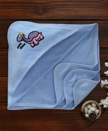 Mee Mee Absorbent Hooded Bath Towel Dino Embroidery - Blue