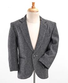 Babyhug Full Sleeves Party Wear Blazer - Grey