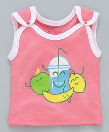 Morisons Baby Dreams Sleeveless Jhabla Vest Fruit Print - Pink