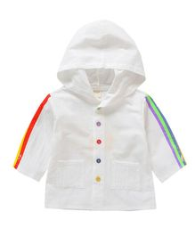 Pre Order - Awabox Full Sleeved Jacket With Hood - White