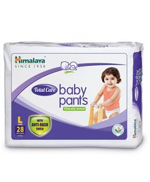 Himalaya Herbal Total Care Baby Pants Style Diapers Large - 28 Pieces