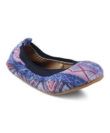 Kittens Shoes Aztec Design Bellies - Blue