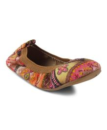 Kittens Shoes Aztec Design Bellies - Brown