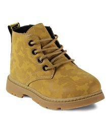 Kittens Shoes Ankle Length Boots - Yellow