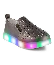 Kittens LED Party Wear Sneakers Shoes - Grey