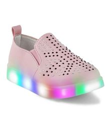 Kittens LED Party Wear Sneakers Shoes - Light Pink