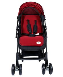 1st Step Pram Cum Stroller - Black & Red