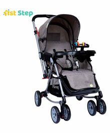 1st Step Rocking Stroller - Grey & Black