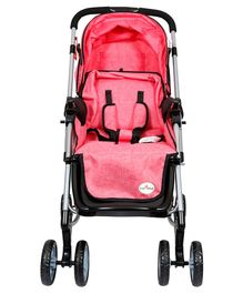 1st Step Rocking Stroller - Red & Black
