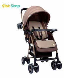 1st Step Pram - Coffee brown