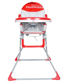 1st Step High Chair - Red Grey