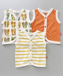 Nino Bambino Set Of 3 Jhablas - Orange