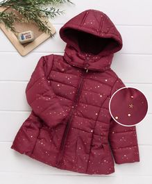 Beebay Full Sleeves Hooded Jacket - Red