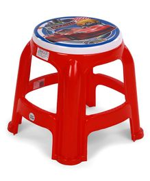 Ratnas Plastic Stool Racing Car Print - Red