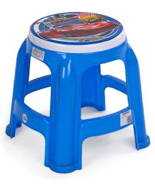 Ratnas Plastic Stool Racing Car Print - Blue