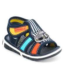 Cute Walk by Babyhug Checks Sandals Car Patch - Navy