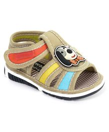 Cute Walk by Babyhug Sandals Puppy Patch - Beige