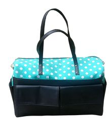 Strut Diaper Bag Polka Dot Print - Navy Blue