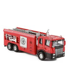 Emob Die Cast Fire Engine Pull Back Truck Toy With Light & Sound - Red