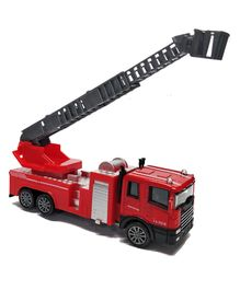 Emob Die Cast Metal Pull Back Truck Toy With Light And Sound - Red