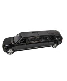 Emob Die Cast Pull Back Luxury Car Toy With Light And Sound - Black