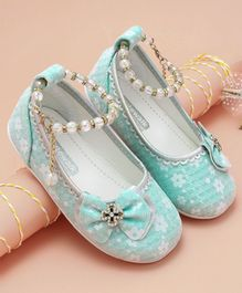 Cute Walk by Babyhug Bellies With Bow & Bead Embellishment - Light Blue