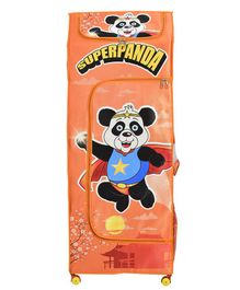 Big Cub 4 Shelves Baby Almirah Super Panda Print - Orange