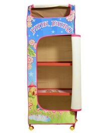 Big Cub 4 Shelves Baby Almirah Pink Fairy Print - Blue