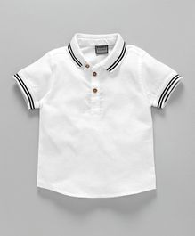 Rikidoos Half Sleeves Solid Shirt - White