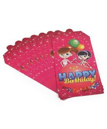 B Vishal Invitation Cards Girl Print Pink - 10 Pieces