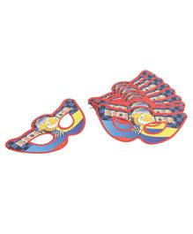 B Vishal Eye Masks Race Car Print Pack Of 10 - Blue Red